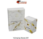 Custom hairspray boxes wholesale Make Your Own brand in USA