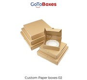 Custom Paper Boxes with free shipping at maximum discount